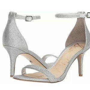 Sam Edelman Patti Ankle Strap Silver Sparkle Cockt